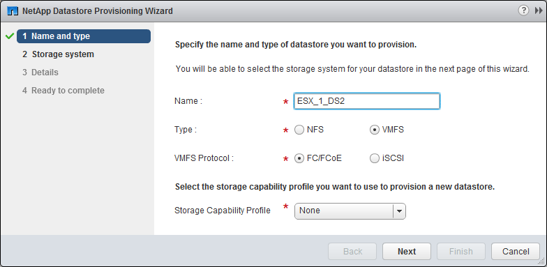 Provisioning a datastore and creating its containing LUN and