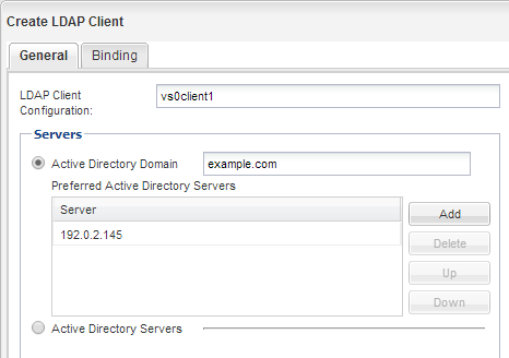 Configuring LDAP (Creating a new NFS-enabled SVM)